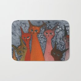Casablanca Whimsical Cats Bath Mat