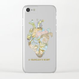 A Traveler's Heart Clear iPhone Case