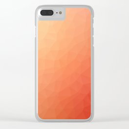Red flakes Clear iPhone Case
