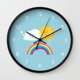 Rainbow's Family Wall Clock