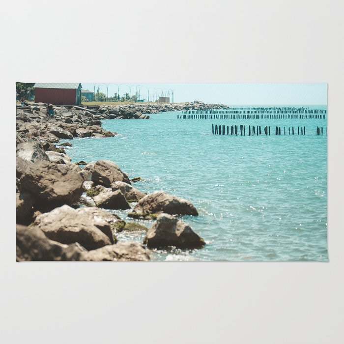 Landscape photo - sea coast Rug