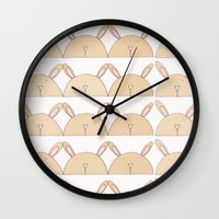 bears Wall Clocks featuring BEARS by Ana Depuntillas