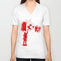 canada V-neck T-shirts featuring Canada Tagger by Kris alan apparel