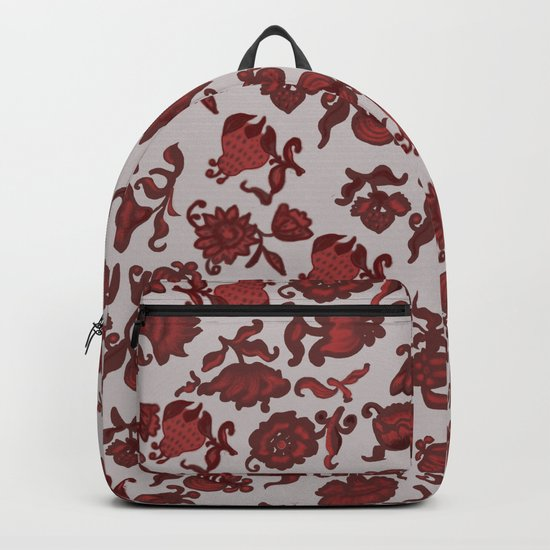 red flowers Backpack