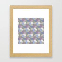Cool Pastel Diamonds Framed Art Print
