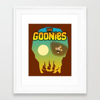 goonies Framed Art Prints featuring The Goonies by tuditees