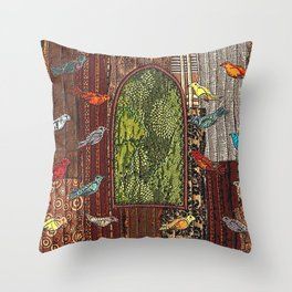 In the birdhouse Throw Pillow