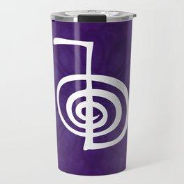 Reiki Cho Ku Rei - in purple lotus Travel Mug