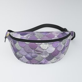 Mermaid Purple and Silver Fanny Pack
