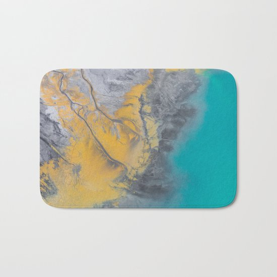 Turquoise World Bath Mat