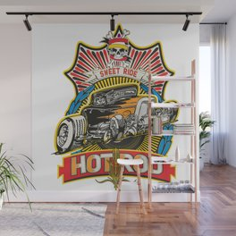 hot rod color tee Wall Mural