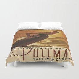Vintage poster - Pullman Duvet Cover