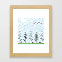 Treetop Birds Framed Art Print