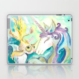Kelpie unicorn and goldfish Laptop & iPad Skin