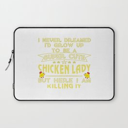 Super cute Chicken lady Laptop Sleeve