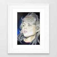 blondie Framed Art Prints featuring Blondie by karen bones
