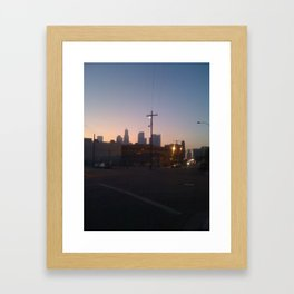 Somewhere in downtown Los Angeles Framed Art Print