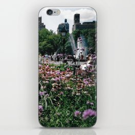 Flowers and Fountain iPhone Skin