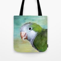 parrot Tote Bags featuring Parrot by ThePhotoGuyDarren