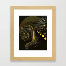 Dark Jaguar Framed Art Print