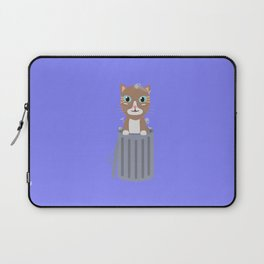 Cute Cat In the trash can   Laptop Sleeve