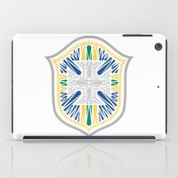 brazil iPad Cases featuring Brazil Crest by George Williams
