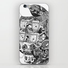 hipster iPhone Skin