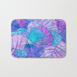 Leaves in Rosy Background Bath Mat