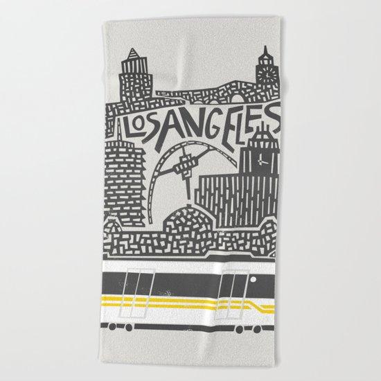 Los Angeles City Print Beach Towel