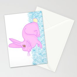 Ice cream rabbit Stationery Cards