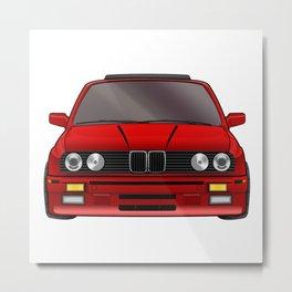 M3 E30 Red Metal Print