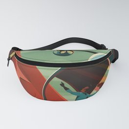 Mars Retro Space Travel Poster Fanny Pack