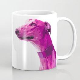 Pink Greyhound. Pop art dog. Coffee Mug