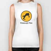 pittsburgh Biker Tanks featuring Pittsburgh Flies by Le Pac
