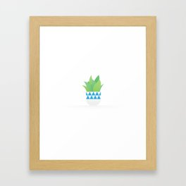A Little Pot Plant Framed Art Print