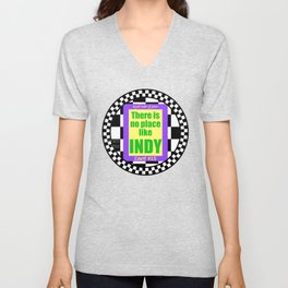 There Is No Place Like Indy, ROJ, Ct. #15 Unisex V-Neck
