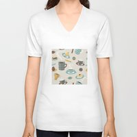 good morning V-neck T-shirts featuring Good Morning! by rusanovska