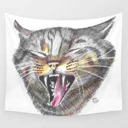 Cat Scratch Fever Wall Tapestry