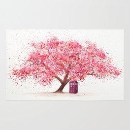 Tardis Tree Art Blossom Rug