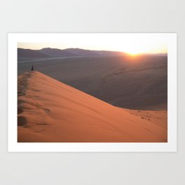 Sunrise from Dune 45 Art Print