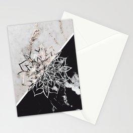 Yin Yang Mandala on Marble #1 #decor #art #society6 Stationery Cards
