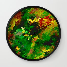 Emerald Forms Abstract Wall Clock