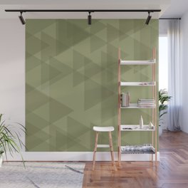 Sand triangles in the intersection and overlay. Wall Mural