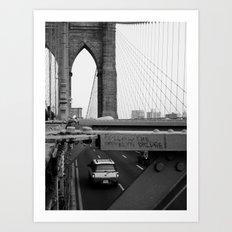 Follow the Bridge Art Print