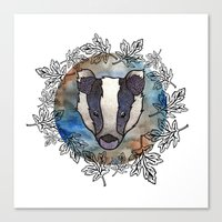 badger Canvas Prints featuring Badger by amyrose
