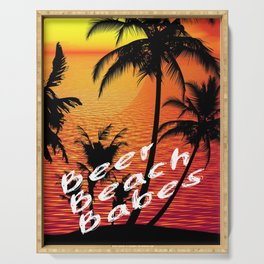 BEER BEACH BABES Serving Tray