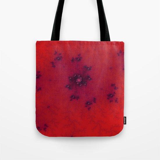 Red Fractal Tote Bag