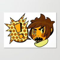 sticker Canvas Prints featuring Chip sticker by marvelousghost