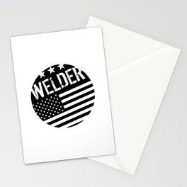 Welder: Black Flag (Circle) Stationery Cards