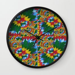math book recycled paper collage for cushion prints and clocks beautiful bright composition  Wall Clock